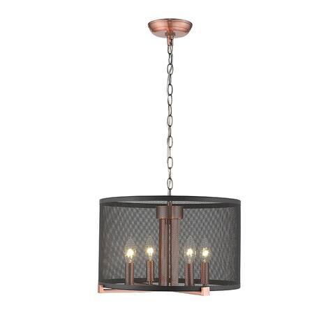 OVE Decors Lancelot III LED Black & Cooper Stain finish Pendant Light