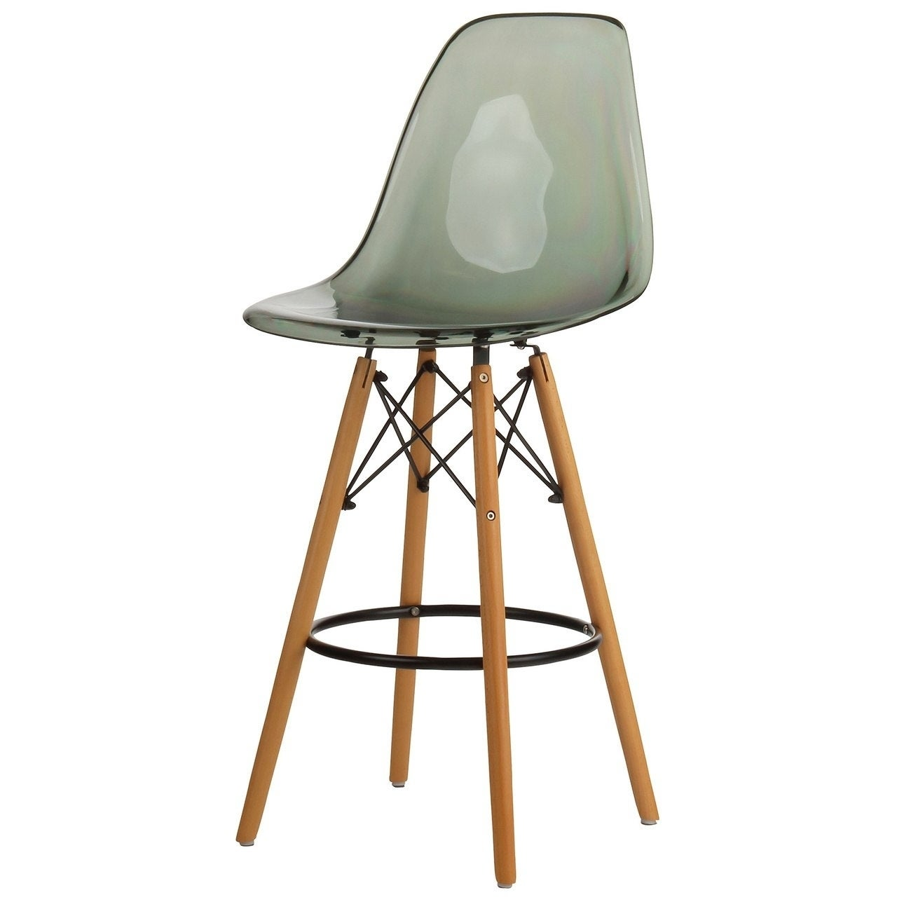 Shop Mid Century Modern 26 Inch Counter Bar Stool With Wood Base Overstock 22287714
