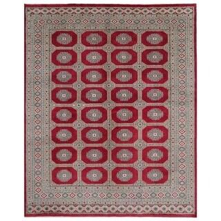 Handmade Herat Oriental Pakistani Hand-knotted Bokhara Wool Rug (6'10 x 8'4)