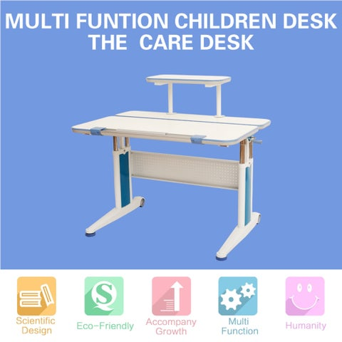 Kids Sit and Stand Ergonomic Height Adjustable Desk-The Care Desk