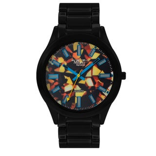 M Milano Expressions Metal Band Watch -45581 (Option: Black - Black - Multi)