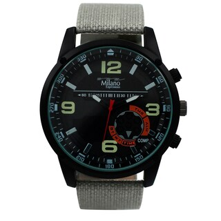 M Milano Expressions Canvas Strap Watch 45371