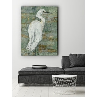 Textured Heron II - Premium Gallery Wrapped Canvas