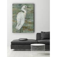 Textured Heron II - Premium Gallery Wrapped Canvas