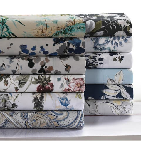 300 Thread Count Cotton Ultra-Soft Printed Pillowcases (Set of 2)