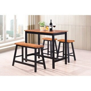 Harper&Bright Designs 4-Piece Wood Dining Set