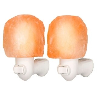 Himalayan Salt Crystal Night Light 2 Pack (light bulbs included)