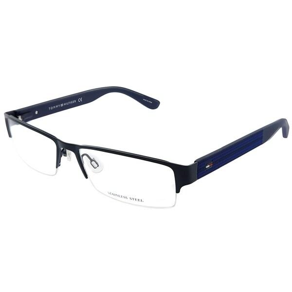 247c306689 Tommy Hilfiger Semi-Rimless TH 1236 1IC Unisex Matte Dark Blue Frame  Eyeglasses