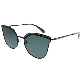 Polaroid Cat-Eye PLD 4056/S 2O5 M9 Women Black Frame Grey Polarized Lens Sunglasses