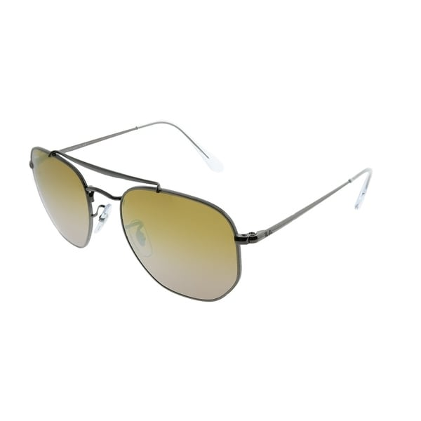 fea03ab947 Ray-Ban Aviator RB 3648 The Marshal 004 I3 Unisex Gunmetal Frame Brown  Mirror