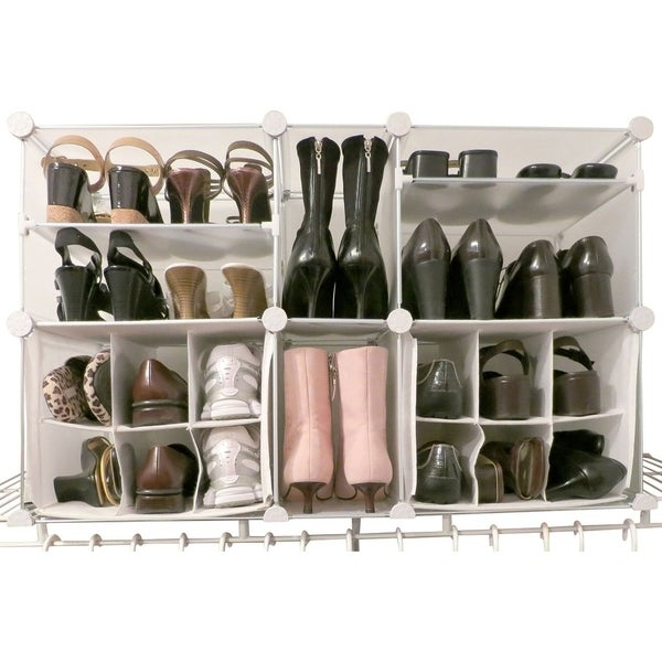 Beau Luxury Living Modular Shoe Storage Organizer With Panels   Fits Up To 22  Pairs Of Shoes