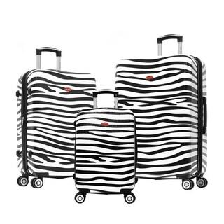 Olympia USA Metropolitan 3 Piece Expandable Hardcase Spinner Set - Zebra