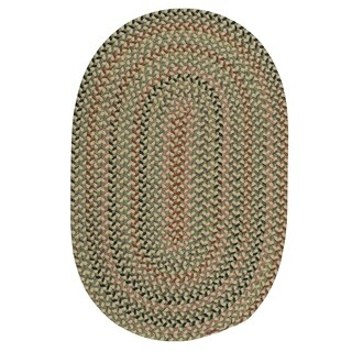Capetown Lily Green Braided Oval Area Rug - 8' x 11'