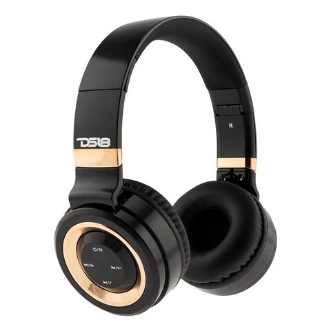 DS18 Bold Bluetooth Headphones Over Ear,HD Stereo Sound Wireless Headset,Foldable, Soft Memory-Protein Earmuffs, w/ Built-in Mic