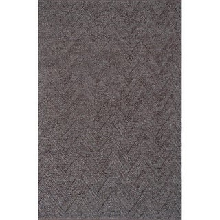 Light Grey Contemporary Modern Area Rug - 8' x 10'