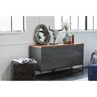 Link to Aurelle Home Larado Modern Grey Walnut 6-drawer Dresser Similar Items in Bedroom Furniture