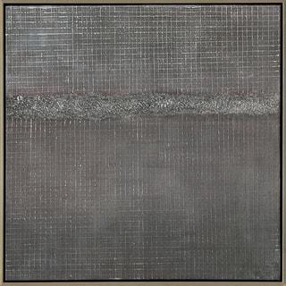 Aurelle Home Contemporary Modern Abstract canvas Wall Décor - Grey/Silver