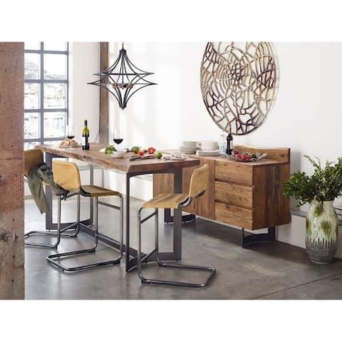 Aurelle Home Farmhouse Counter Height Rustic Table