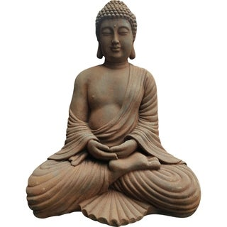 Aurelle Home Painted Stone Budha Sculpture