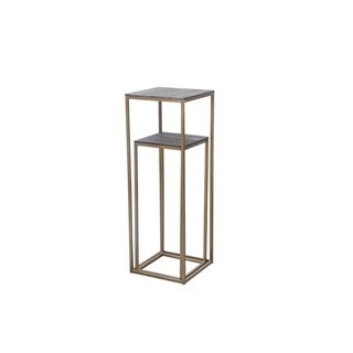 Aurelle Home Brass Industrial Nesting Accent Tables (Set of 2)