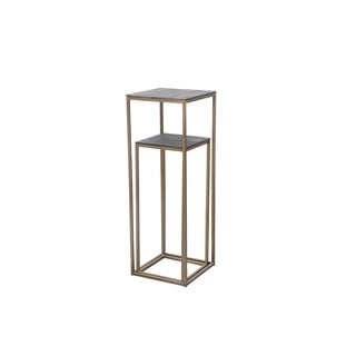 Aurelle Home Brass Industrial Accent Tables (Set of 2)