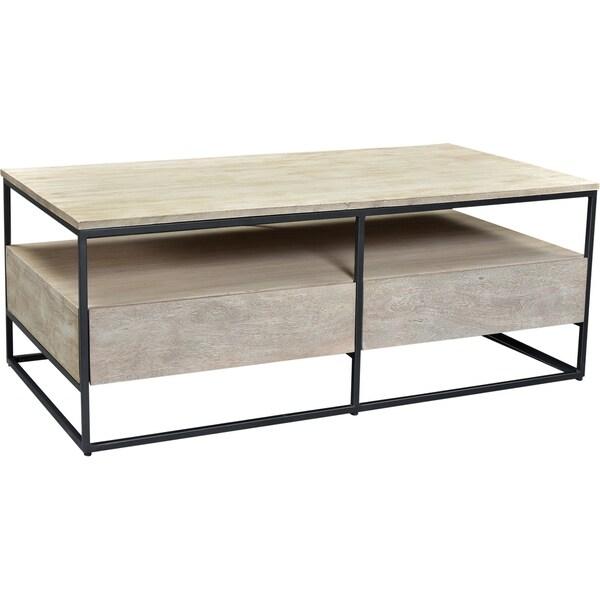 Aurelle Home Grey Rustic Modern Coffee Table