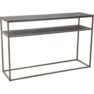Aurelle Home Brass and Reclaimed Wood Console Table