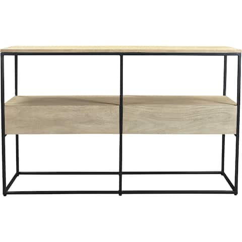 """Aurelle Home Alta Rustic Wood and Iron Console Table - 30"""" x 48"""" x 14"""""""
