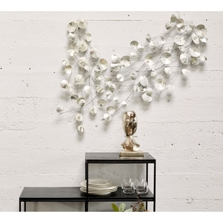 Link to Aurelle Home Modern Iron Leaves Wall Decors (Set of 2) Similar Items in Decorative Accessories