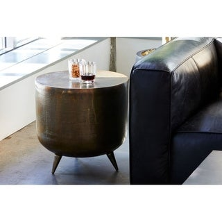 Aurelle Home Handcrafted Brass and Copper Accent Table
