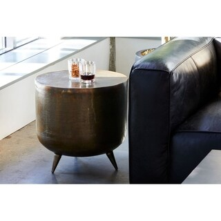 Aurelle Home Brass and Copper Accent Table