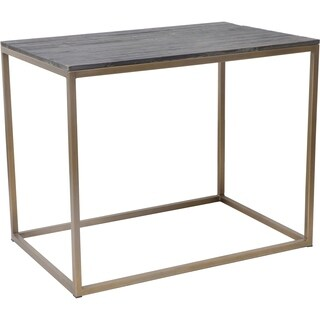 Aurelle Home Brass Metal and Reclaimed Wood Side Table