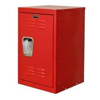 "Hallowell Kid Mini Locker, 15""W x 15""D x 24""H, 721 Relay Red (red), Single Tier, 1-Wide, Knock-Down"