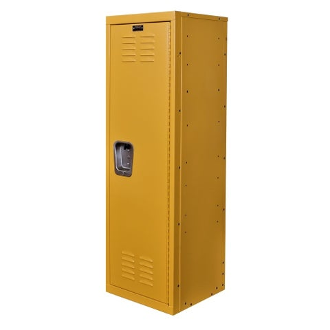 "Hallowell Kid Locker, 15""W x 15""D x 48""H, 723 Trophy (yellow), Single Tier, 1-Wide, Knock-Down"