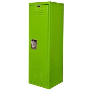"""Hallowell Kid Locker, 15""""W x 15""""D x 48""""H, 1134 Sour Apple (green), Single Tier, 1-Wide, Knock-Down"""