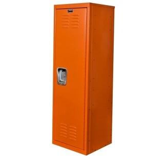 """Hallowell Kid Locker, 15""""W x 15""""D x 48""""H, 728 Hoop (orange), Single Tier, 1-Wide, Knock-Down"""