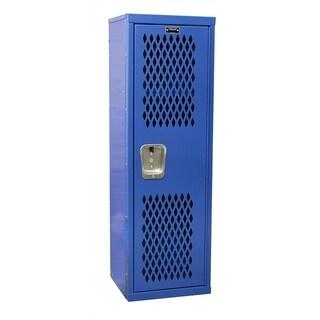 "Hallowell Home Team Locker, 15""W x 15""D x 48""H, 717 Grand Slam (blue), Single Tier, 1-Wide, Knock-Down"