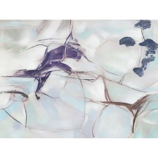 Aurelle Home Modern Abstract Acrylic Canvas Wall Decor - Blue/Multi-color