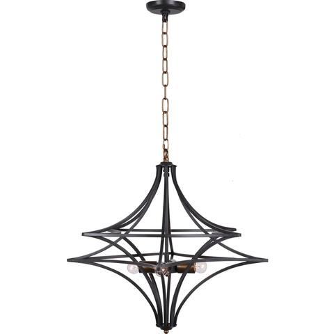 Aurelle Home Rustic Modern Chandelier Pendant Lamp