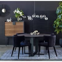 Black Large Glass Globe Contemporary Modern Pendant Lamp