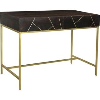 Dark Brown Iron Contemporary Modern Desk