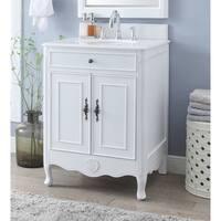 "26"" Benton Collection Daleville Antique White Bathroom Sink Vanity"