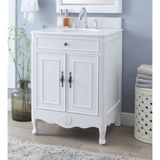 """26"""" Benton Collection Daleville Antique White Bathroom Sink Vanity (2 options available)"""