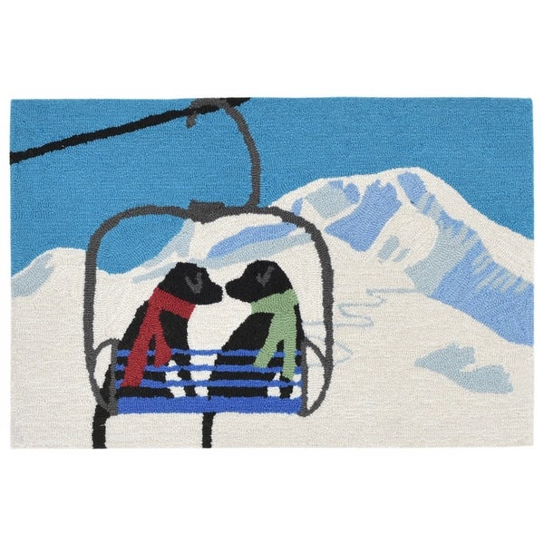 Liora Manne Frontporch Ski Lift Love Indoor Outdoor Rug Winter 30 X48 On Free Shipping Today 22291163