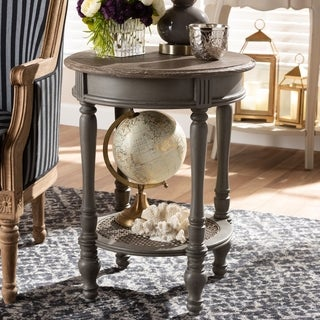 Country Cottage Brown End Table by Baxton Studio