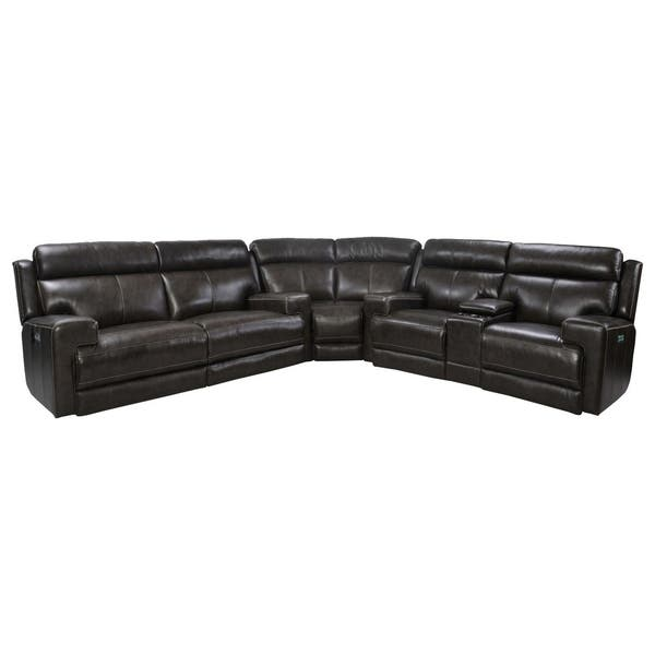 Tremendous Shop Henderson Top Grain Leather Power Reclining Sectional Ocoug Best Dining Table And Chair Ideas Images Ocougorg
