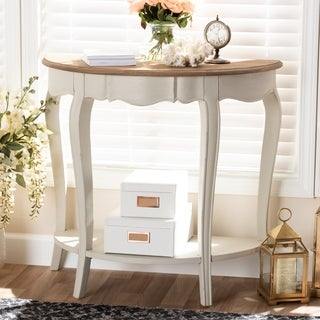 Country Cottage White Console Table by Baxton Studio