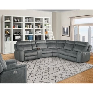 Lester Grey Power Reclining Sectional Sofa