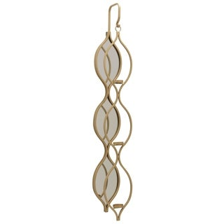 Link to Harp & Finial Tolly Mirrored Gold Wall Candle Holder Similar Items in Decorative Accessories