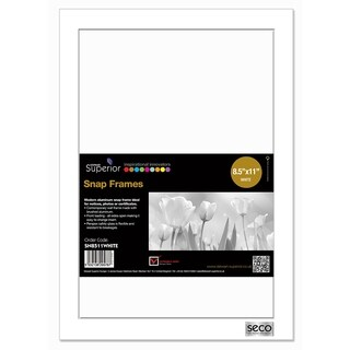 """25mm Mitred Snap Frame in White 8.5""""x11"""""""
